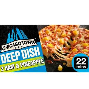1/2 Price : 2X 165g Chicago Town Deep Dish Ham & Pineapple Pizza/ Cheese/ BBQ/ Chicken/Meaty / Pepperoni, £1 @ Morrisons