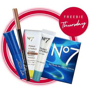 Today Only - Free gift worth £29 on a £30 spend on selected No7 - stacks with 1/2 price No7 Palettes on 3 for 2 offer @ Boots