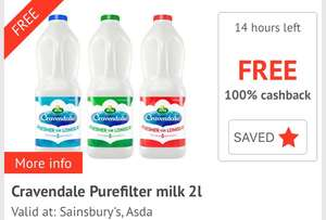 Free Cravandale Milk with CheckoutSmart after purchasing at Sainsbury's - £1.50