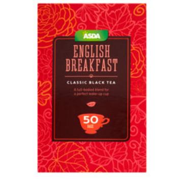 Asda English Breakfast tea 50 bags only 35p.