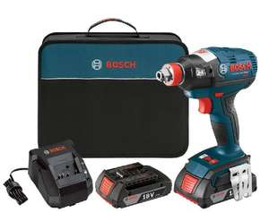 Bosch IDH182-02 Cordless Impact Driver - 18-Volt Lithium Ion Brushless Tool Kit with (2) 2.0Ah Lithium Ion Batteries - £126.57 @ Amazon US