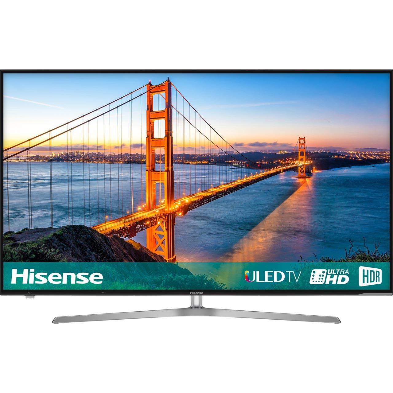 "Hisense H55U7AUK 55"" Smart 4K Ultra HD TV HDR10 and Freeview Play + FREE Google Home mini with code £499 @ AO"