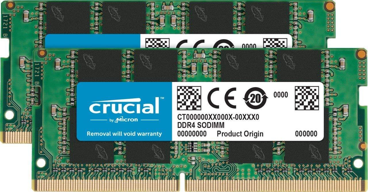 Crucial 16 GB Kit (8 GB x2) 2,666 MHz DDR4 SODIMM 260-Pin RAM £53.99 @ Amazon
