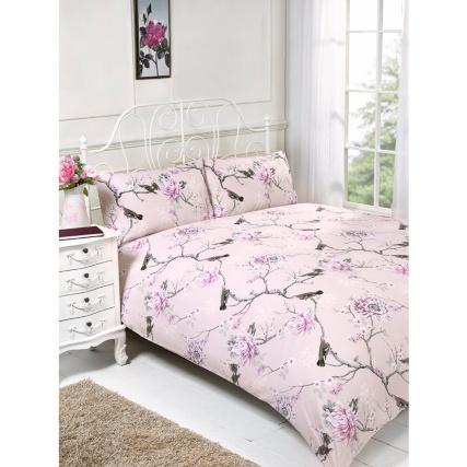 Floral Birds Pink Double Duvet Cover Set / Big Apple Skyline - Now £8 @ B&M