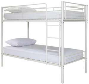 Argos Home Samuel Black Single Bunk Bed Frame - White/ Silver - £49.99 + £6.95 (delivery) @ Argos