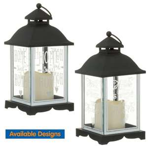 1/2 Price LED Glitter Lantern : Home Is Where The Heart Is / Home Sweet Home , Now £2.50 each  @ B&M