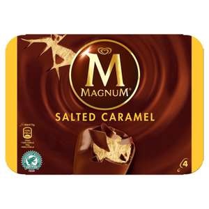 Magnum Salted Caramel 4 pack 32p @ Tesco in store