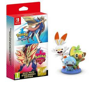 Pokemon Sword And Shield Dual Edition + Free Figurine (Nintendo Switch) £83. 55 @ The Game Collection
