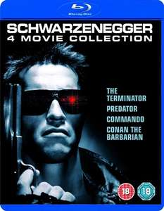 Preowned Schwarzenegger 4 film Blu ray Collection £6 @ Cex store (£1.50 postage for online purchase)