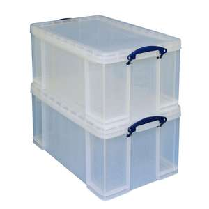 Really Useful Box 64 Litre Storage Box, Clear  - £10 @ Morrisons