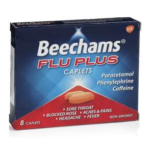 Beecham's Flu Plus Caplets 19p for 8 instore @ Home Bargains