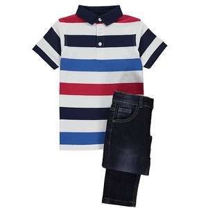 Boys polo shirt & jeans outfit £6 George free click and collect