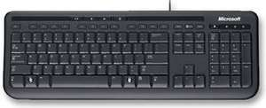 Microsoft Wired Keyboard 600, UK Layout - Black £7.84 + £4.49 delivery Npn Prime @ Amazon min 2 orders -  Cheapest its been for years!