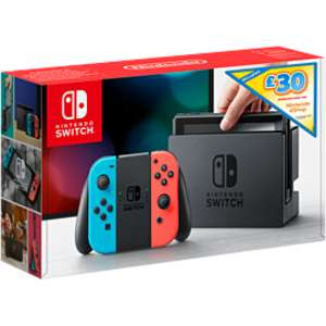 Nintendo Switch - Neon Red/Blue with £30 eshop credit and Marvel Ultimate Alliance 3 - £299 GAME