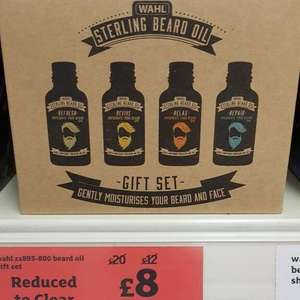 Wahl Stirling beard oil gift set now £8 @ sainsburys Lincoln