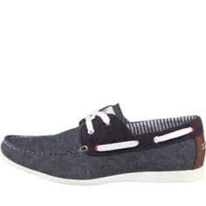 Onfire Mens Washed Canvas Boat Shoes Navy £24.98 at M&MDirect