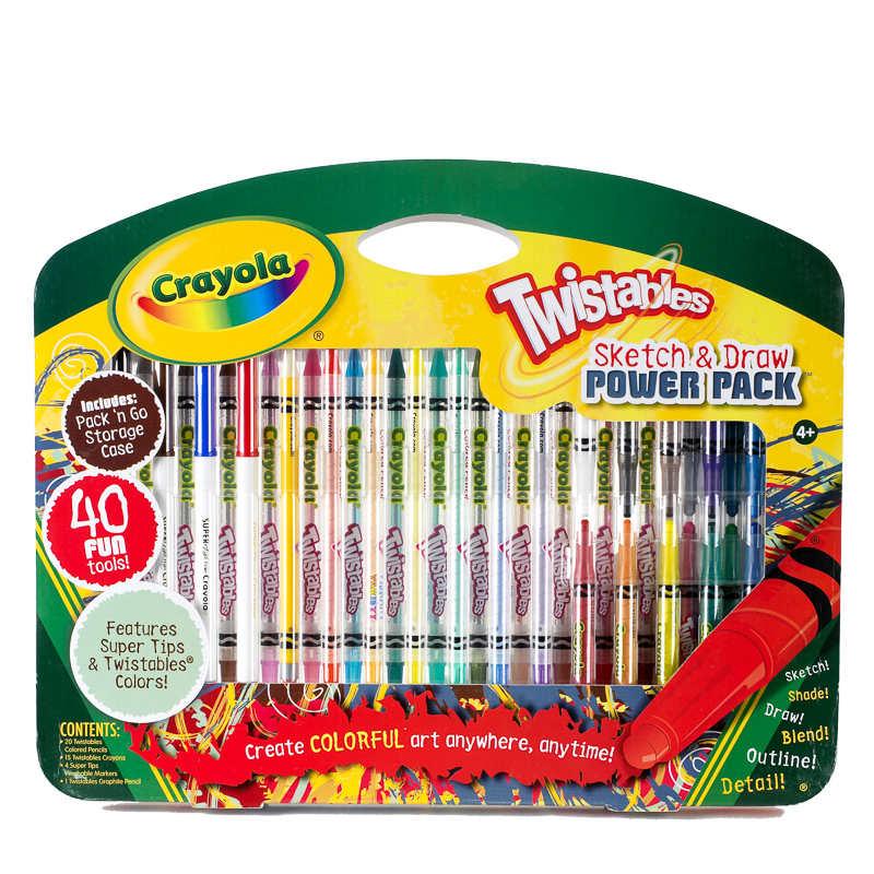 Crayola Twistable Sketch & Draw 40pc for £1 @ B&M