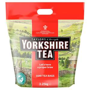 Yorkshire Tea - 1040 Bags for £17.86 + £4.49 delivery Non Prime /  £16.97 @ Amazon S&S