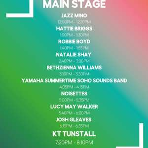 free tickets to see KT Tunstall and Noisettes at Wembley Park - Sat 20th July