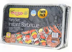 Bar-Be-Quick Twin Pack Party BBQ - £5.53 @ Homebase (Free C&C)