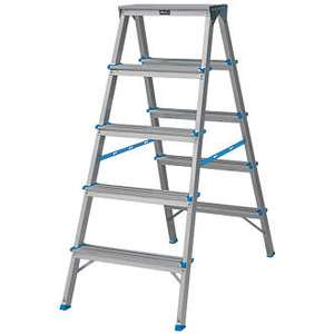 Aluminium 9-Treads Double-Sided Stepladder 1.08m £28.99 @ Screwfix - (Free C&C) - 1 Year Guarantee
