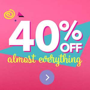 Claire's 40% off almost everything