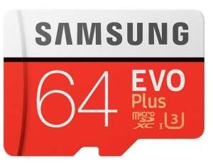 Samsung EVO Plus Micro SDXC UHSI Card with Adapter 64GB £9.99 at Picstop
