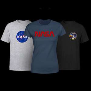 Officially Licensed NASA t-shirts £8.99 each delivered with code available in 31 different styles for Men, Women & Kids @ IWOOT