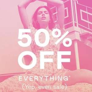 Nasty Gal - 50% off everything including sale - delivery £4.50