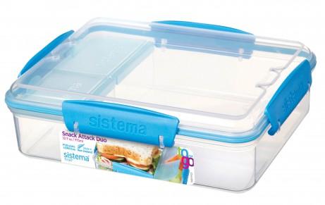Sistema Snack Attack Duo Slimline Lunch Box - £3 at Asda