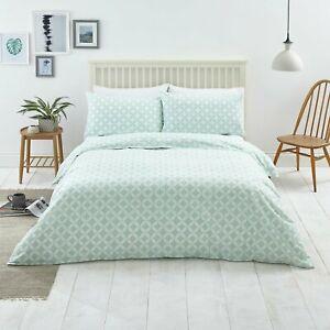 Duck Egg Geo Reversible Bedding Set - Double £9 @ Argos ebay