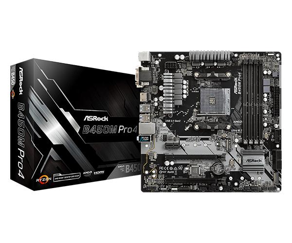 ASRock B450M Pro4 AM4 DDR4 mATX Motherboard - £65.46 at ebuyer_uk_ltd eBay