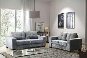 Kingsley 3 & 2 seater sofa set £399 free delivery with code 1 year warranty - £399.99 @ furnitureinstore eBay