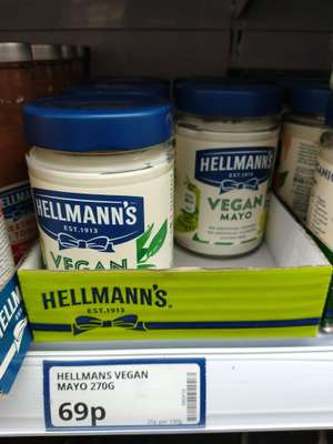 Hellman's Vegan Mayo 69p @ Poundstretcher