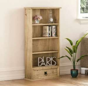 Corona DVD Rack 1 Drawer Shelf Unit Mexican Solid Waxed Pine By Home Discount eBay £25.56 with code free delivery