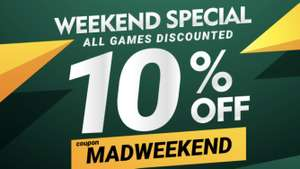 Gamivo Mad Weekend Special 10% off all games using code MADWEEKEND