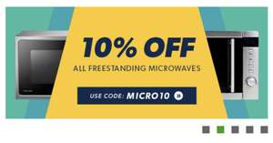 10% off all Freestanding Microwaves at Appliances Direct until August 1st!