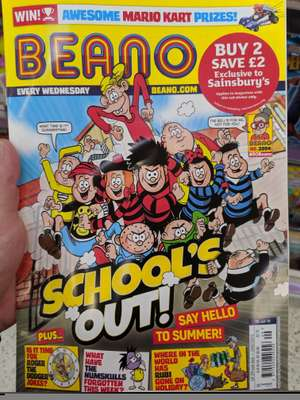 Buy 2 selected children's magazines and save £2 @ Sainsbury's