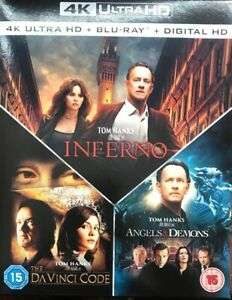 Da Vinci Code, Angels And Demons, Inferno Boxset 4k Blu Ray Very Good Condition £16.60 delivered @ thetradeinn ebay