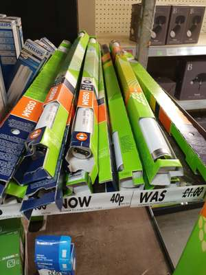 OSRAM Fluorescent Tube 18w  40p @ Homebase pollockshaws