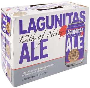 Lagunitas 12th of Never Beer Cans, 12 x 355 ml - £11.94 at Amazon Prime / £16.43 Non Prime
