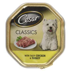 Cesar Classics, Wet Dog Food for Adult Dogs 1+ Chicken and Turkey in Loaf, 150 g 23p at Amazon Pantry (+£3.99 delivery)