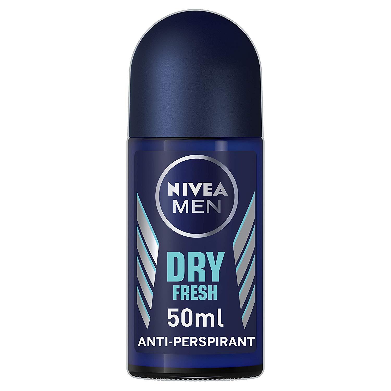 NIVEA MEN Dry Fresh Anti-Perspirant Deodorant Roll On Pack of 6 (6 x 50ml) £2.29 @ Amazon (Add On Item or S&S)