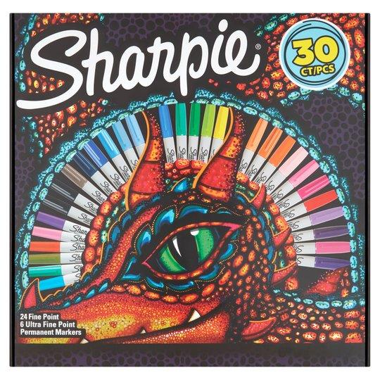 Sharpie Lizard Eye Box 30Pk £10 /  Sharpie Permanent Markers Electro Pop 24 Pack £9 @ Tesco