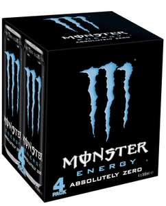 4x500ml cans of Monster absolute zero £1.29 + £3.99 Delivery @ Amazon Pantry