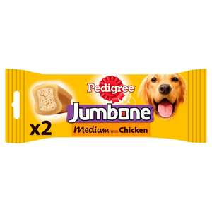 Pedigree Jumbone Dog Treats for Medium Dogs from 10-25 kg Chicken & Rice 1 Bag (1 x 200 g Total of 2 Chews) 47p + £3.99 del. @ Amazon Pantry