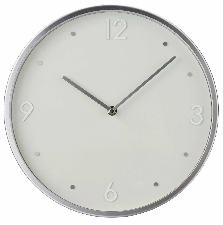 Argos Home Wall Clock - Brushed Silver £7.50 at Argos (Free C&C)
