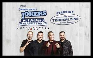 Impractical Jokers world tour tickets on Groupon £18.98 each with code 5 locations