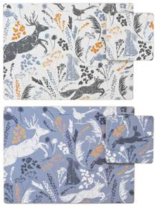 Set of 4 Placemats and Coasters -  £5.00 @ Argos (free C&C)