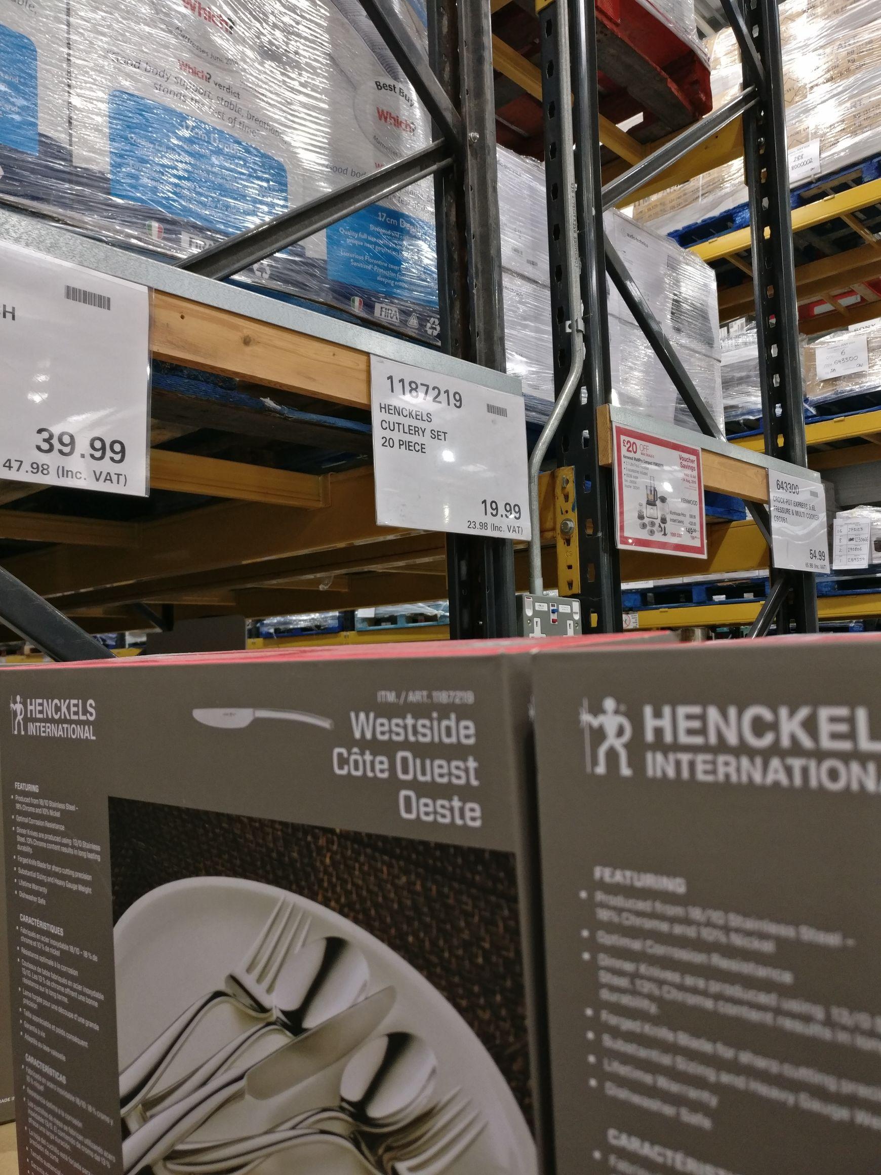 Henckels international Cutlery Set 20 Piece (18/10 stainless steel) Costco (Purley Way)